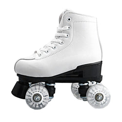 Basecamp Double Roller Skating Quad Two Line Roller Skate 4 Wheels Lace-up Skate Shoes with Colorful LED Light Free Shiping - fishingnvarieties.store