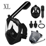 Scuba Diving Mask Full Face Snorkeling Mask Underwater Anti Fog Snorkeling Diving Mask For Swimming Spearfishing Dive Men - fishingnvarieties.store