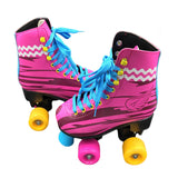 BSTFAMLY Double Row Roller Skates Size 31-38 Figure Skating Two Line Roller Patines For Kids Adult PU wheels Pink Shoes IB100 - fishingnvarieties.store
