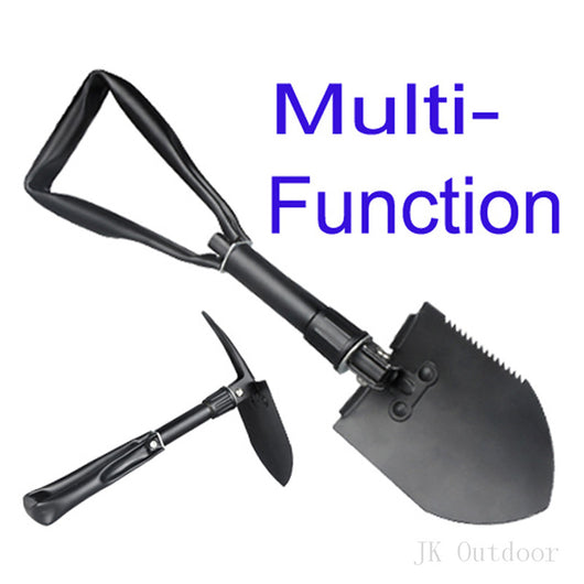 Army Military Portable Folding Spade Shovel Pick Axe Camping Metal Detecting Camping Equipment Outdoor Survival EDC Multi-tool - fishingnvarieties.store