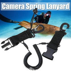 Mayitr 1 pcs Lanyard Spring Coil  Diving Dive Camera Scuba Diving Dive With Quick Release Buckle and Clips for Diving Outdoor - fishingnvarieties.store