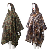 3in1 Outdoor Backpack Rain Cover Poncho Coat Camouflage Tent Awning Mat Camping Tool Outdoor Camping Equipment