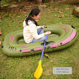 Inflatable Boat High Strength PVC Rubber Fishing Boat with Paddles Pump Patching Kit for kids adult Drifting Water Skiing Boat - fishingnvarieties.store