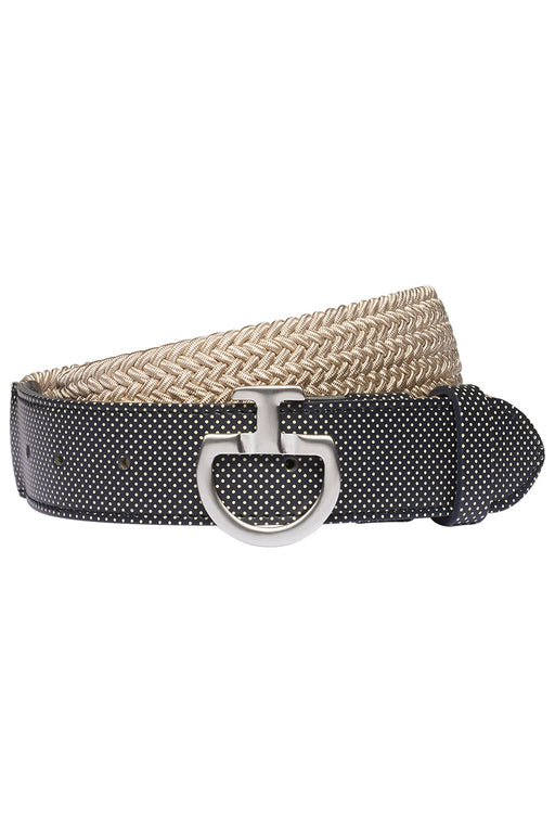 Cavalleria Toscana Women's Elastic Belt with Perforated Leather