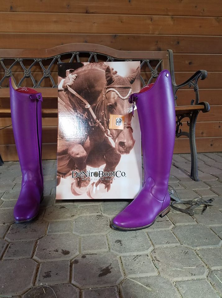 Tiziano Dressage boot custom purple/pink