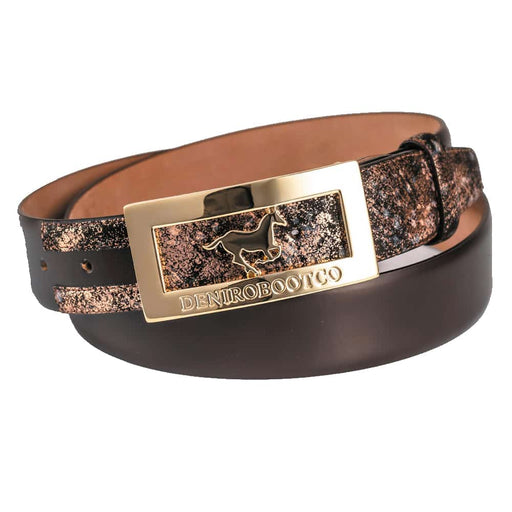 Deniro Infinito Metal Brushed Po Fondente Belt