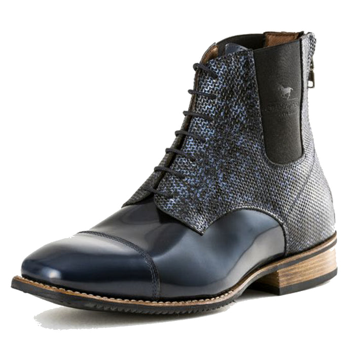 Deniro Intreccio Brushed Blu Paddock Boot