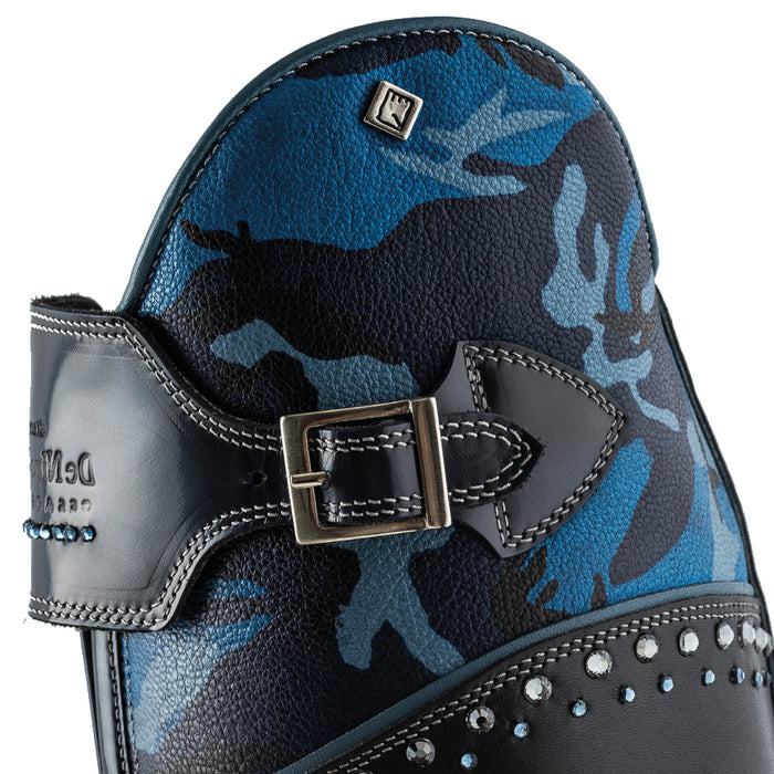 Deniro Savage Blue Camouflage Boot with sparkle