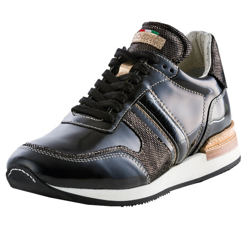 Deniro Incanto Bronzo Brushed Black Sneaker
