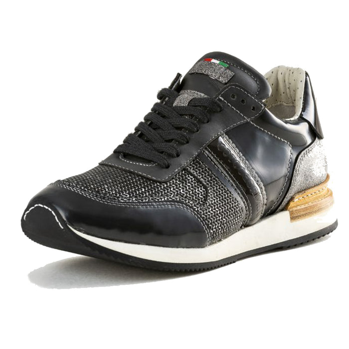 Deniro Intreccio Silver Brushed sneaker