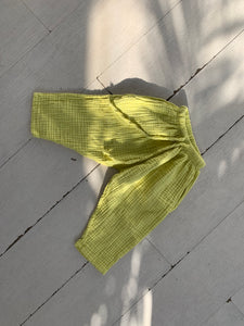 Triple Gauze Pants_Lime Yellow