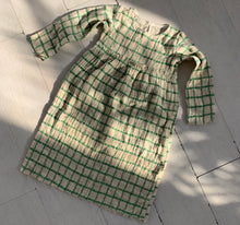 Load image into Gallery viewer, Grid Dress_Green