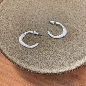 Crescent Earrings_Silver