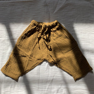 Triple Gauze Pants_Dark Olive