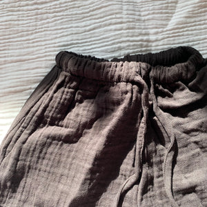 Triple Gauze Pants_Charcoal