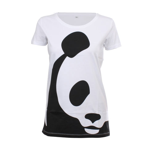 Wit t-shirt Panda - Dames