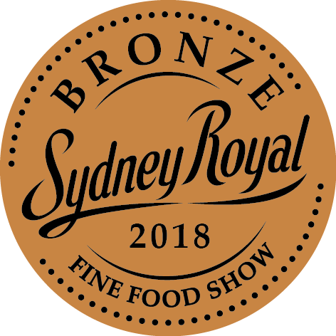2018 bronze at the Sydney Royal Fine Food Show