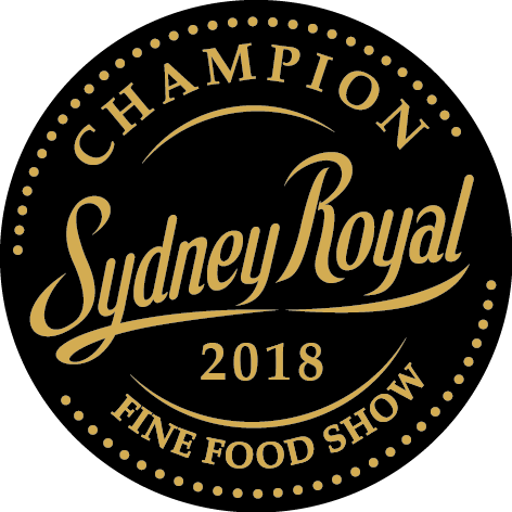 2018 awarded Grand Champion Sydney Royal Fine Food Show.
