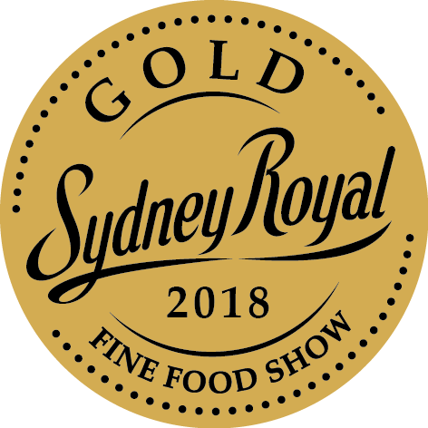 2018 awarded gold at the Sydney Royal Fine Food Show.