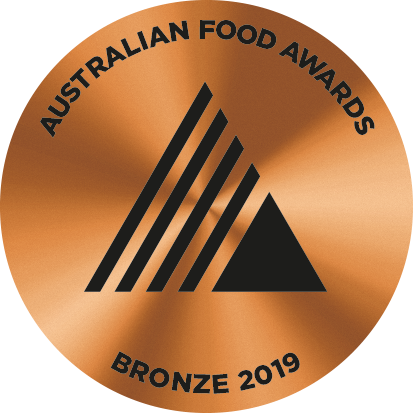 2019 awarded bronze at the Australian Food Awards