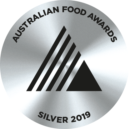 2019 awarded silver at the Australian Food Awards,