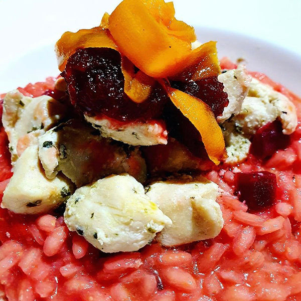 Beetroot Chicken Risotto