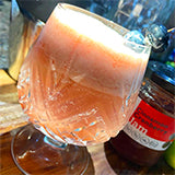 Gin fizz with cranberry cinnamon jam