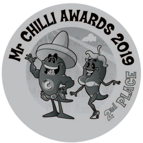 2019 placed 2nd at The Mr Chilli Awards