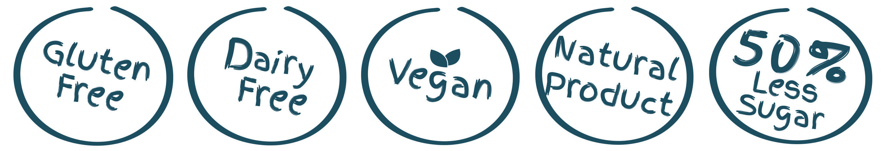 Gluten free, dairy free, no artificial preservatives and vegan friendly.