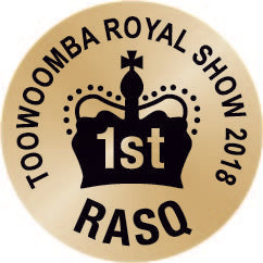 2018 placed 1st at the Toowoomba Royal Show