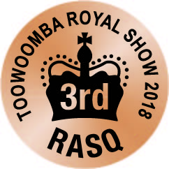 2018 placed 3rd at the Toowoomba Royal Show