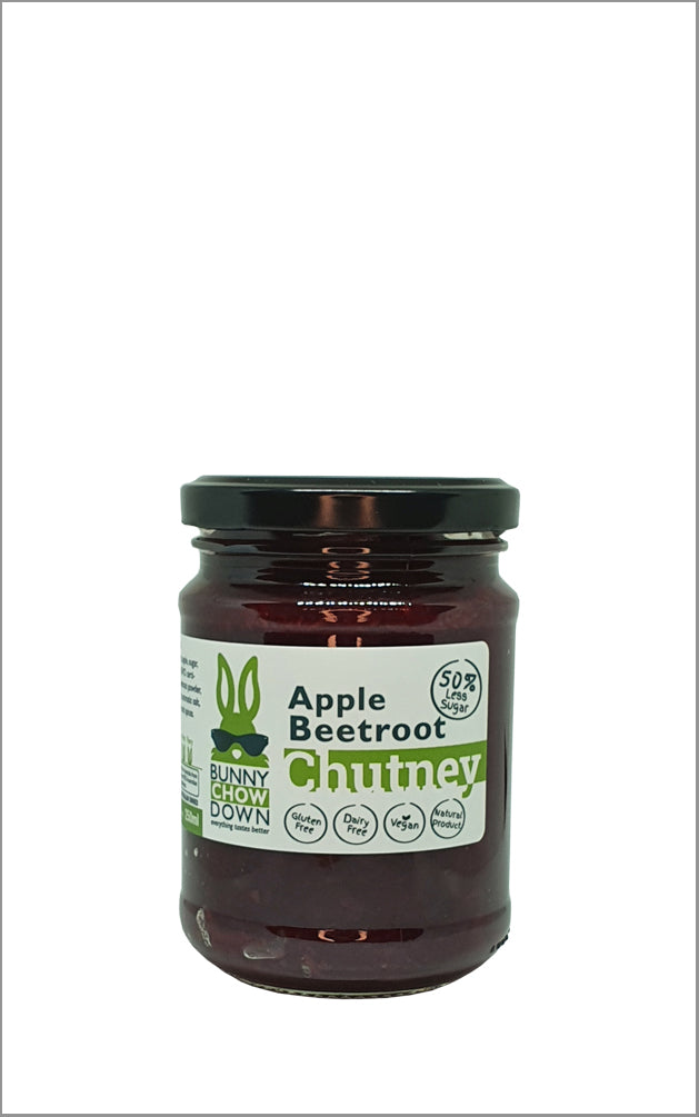 Bunny Chow Down Beetroot Apple Chutney - 50% Less Sugar