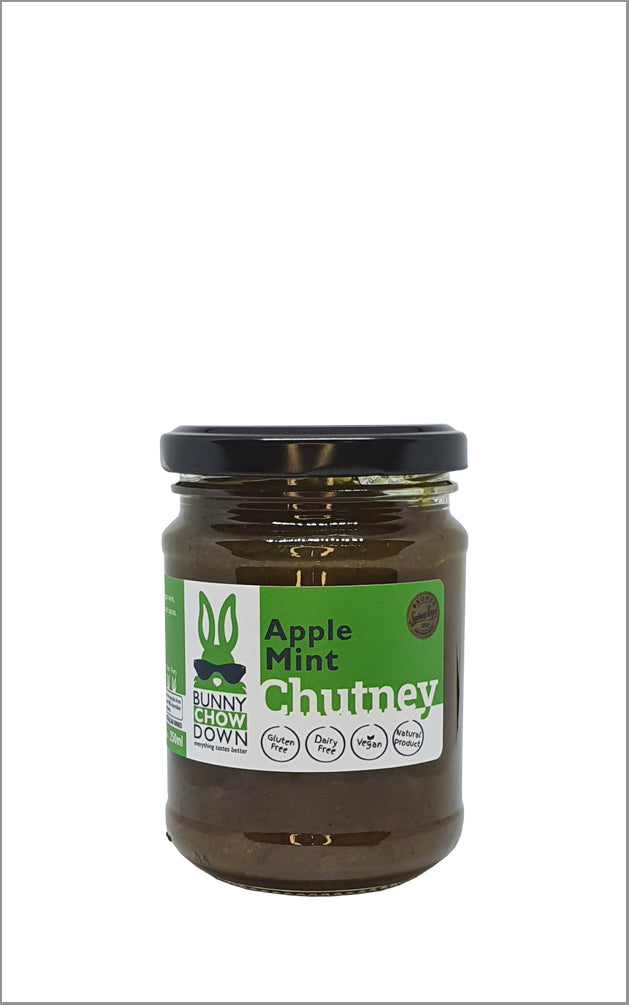 Bunny Chow Down  Mint Apple Chutney