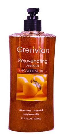 Grerivian APRICOT SHOWER GEL SCRUB - Exfoliating, revitalizing, rejuvenating & Lightening Body Wash - www.grerivian.com