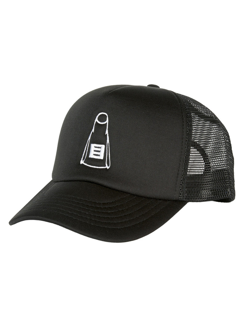 Embroidered Trucker Cap Black