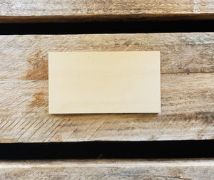 WOODEN Bag Tag (Rectangle)