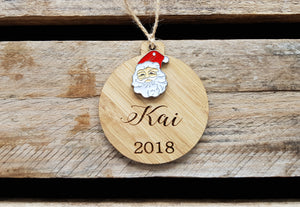 Rustic Christmas Decoration with Festive Pendant