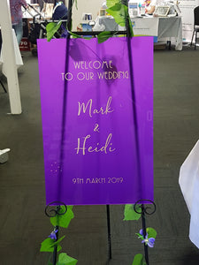Wedding Welcome Signs (Acrylic)