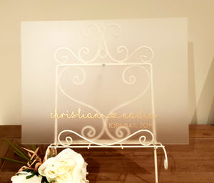 Wedding Guest Signing Board (Acrylic)