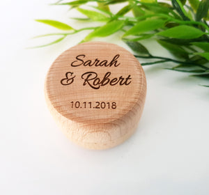 Wedding Ring Box using FIRST NAMES