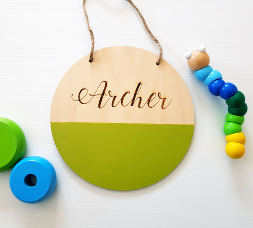 Paint-Dipped Baby/Kids Name Plaque