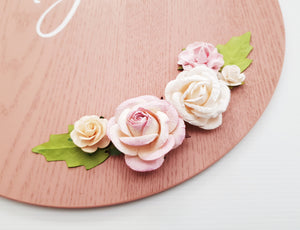 Floral Name Plaque
