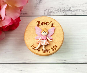 Tooth Fairy Box (Personalised with Curved Writing)