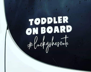 Toddler on Board Car Sticker (Decal)