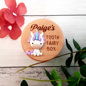 Unicorn Tooth Fairy Box (Personalised)