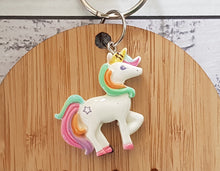 Unicorn WOODEN Bag Tag