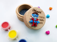 Superhero Wooden Tooth Fairy Box