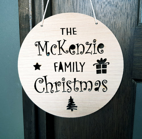 Family Christmas Plaque
