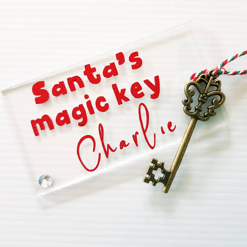 Santa's Magic Key with personalised ACRYLIC tag