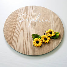 Sunflower Name Plaque